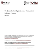 On quasinilpotent operators and the invariant subspace problem
