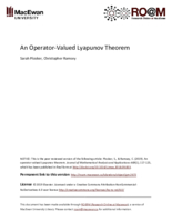 An operator-valued Lyapunov theorem