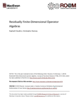 Residually finite-dimensional operator algebras