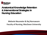 Anatomical knowledge retention & interventional strategies in nursing education