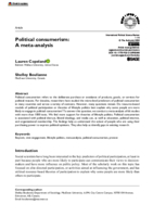 Political consumerism: a meta-analysis