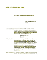 Lucid dreaming project