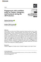 Engagement with candidate posts on Twitter, Instagram, and Facebook during the 2019 election