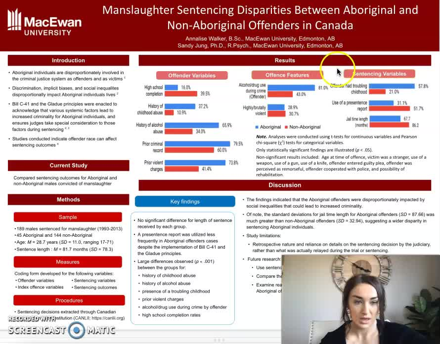 Manslaughter sentencing disparities between Aboriginal and non-Aboriginal offenders in Canada