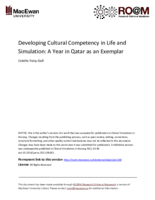 Developing cultural competency in life and simulation: a year in Qatar as an exemplar