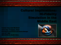Cultural implications: hi-fidelity simulation in the Middle East
