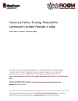 Voluntary carbon trading: potential for community forestry projects in India