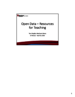Open data resources for teaching