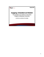Engaging, embedded and mobile! The evolution of an online IL instruction program at MacEwan University