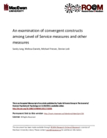 An examination of convergent constructs among Level of Service measures and other measures