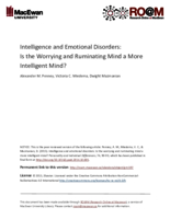 Intelligence and emotional disorders: is the worrying and ruminating mind a more intelligent mind?