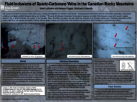 Fluid inclusions of quartz-carbonate veins in the Canadian Rocky Mountains