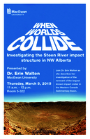 When worlds collide: investigating the Steen River impact structure in NW Alberta