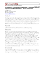 Professional development on a budget: facilitating learning opportunities for information literacy instructors