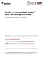 Sexuality in a community based sample of adults with autism spectrum disorder