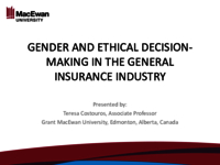 Gender and ethical decision-making in the general insurance industry