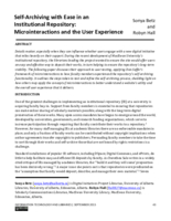 Self-­archiving with ease in an institutional repository: microinteractions and the user experience