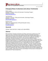 Changing roles of librarians and library technicians