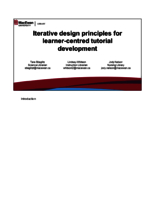 Iterative design principles for learner-centred tutorial development