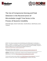 The use of compressive sensing and peak detection in the reconstruction of microtubules length time series in the process of dynamic instability