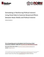 Stimulating or reinforcing political interest: using panel data to examine reciprocal effects between news media and political interest