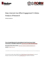 Does Internet use affect engagement? A meta‐analysis of research