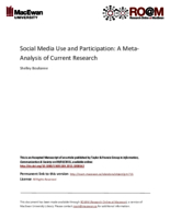 Social media use and participation: a meta-analysis of current research