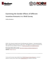Examining the gender effects of different incentive amounts in a web survey