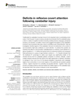 Deficits in reflexive covert attention following cerebellar injury