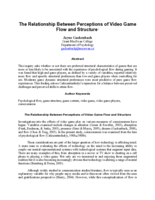 The relationship between perceptions of video game flow and structure