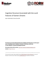 Cognitive structure associated with the lucid features of gamers dreams