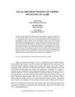 Legal decision-making on crimes involving an alibi