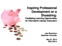 Inspiring professional development on a shoestring: facilitating learning opportunities for information literacy instructors