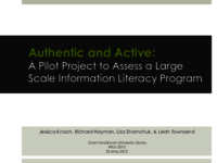 Authentic and active: a pilot project to assess a large-scale information literacy program