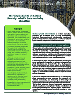 Boreal peatlands and plant diversity: what's there and why it matters