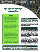 Early stand-level assessment of forest harvesting in western boreal peatlands