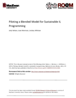 Piloting a blended model for sustainable IL programming