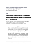 Journalistic independence: how social media are reshaping power structures in news broadcasting